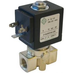 Seria 21A elektrozawory do tlenu 2/2 normalnie zamknięte bezpośredniego działania z mosiądzu