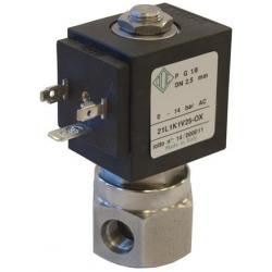 Seria 21L zawór elektromagnetyczny tlenowy 2/2 normalnie zamknięty bezpośredniego działania ze stali nierdzewnej