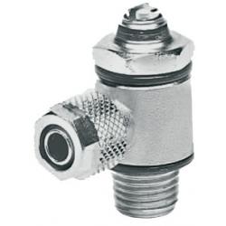 Zawór dławiąco-zwrotny skręcany, regulacja pod śrubokręt, do zaworów