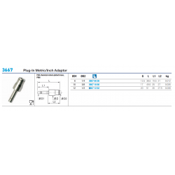 3667 Plug-In Metric/Inch Adaptor