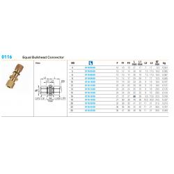 0116 Equal Bulkhead Connector