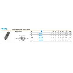 WBPL Equal Bulkhead Connector