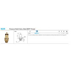 0630 Pressure Relief Valve, Male BSPP Thread