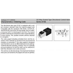 Series D1SE Series D1SE 3/2-Way Seated Type Directional Control Valve