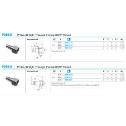 9086U Probe, Straight-Through, Female BSPP Thread
