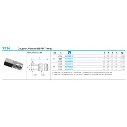9214 Coupler, Female BSPP Thread
