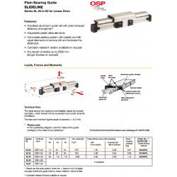 Plain Bearing Guide SLIDELINE Series SL 25 to 63 for Linear Drive