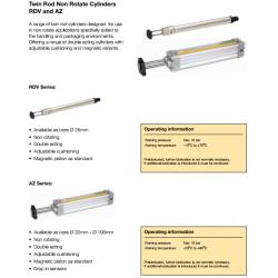 Twin Rod Cylinders - RDV and AZ
