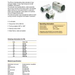 Rotary Rack and Pinion Actuators - RA