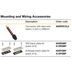 Mounting and Wiring Accessories