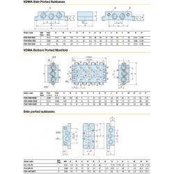ISO 5599-1 Subbase & Manifolds