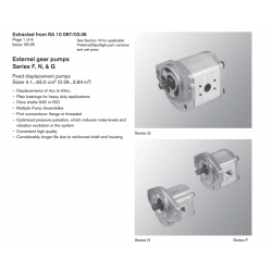 External gear pumps Series F, N, & G Fixed displacement pumps Sizes 4.1...63.0 cm3 (0.26...3.84 in3)