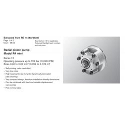 Radial piston pump Model R4 mini Series 1X Operating pressure up to 700 bar