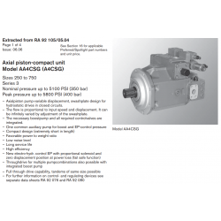 Axial piston-compact unit Model AA4CSG (A4CSG) Sizes 250 to 750 Series 3