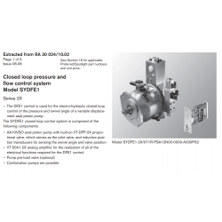 Closed loop pressure and flow control system Model SYDFE1