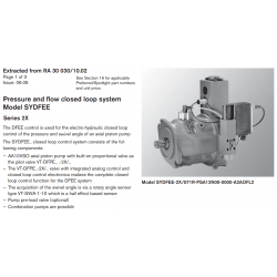 Pressure and fl ow closed loop system Model SYDFEE Series 2X