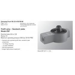 Prefi ll valve – Sandwich plate Model ZSF Nominal sizes 32 to 125 Series 1X
