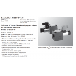 3/2- and 4/2-way Directional poppet valves with solenoid operation Model M-.SED 10