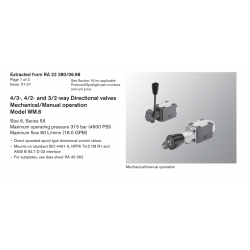 4/3-, 4/2- and 3/2-way Directional valves Mechanical/Manual operation Model WM.6