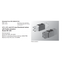 4/3-, 4/2- and 3/2-way Directional valves with fl uidic actuators Model WP, WH