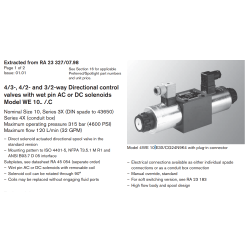 4/3-, 4/2- and 3/2-way Directional control valves with wet pin AC or DC solenoids Model WE 10.. /.C