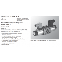 4/2- and 4/3-way Isolating valves Model Z4WE 6