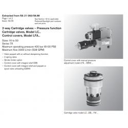 2-way Cartridge valves – Pressure function Cartridge valves, Model LC... Control covers, Model LFA...