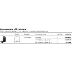 Suppressor and LED indicators