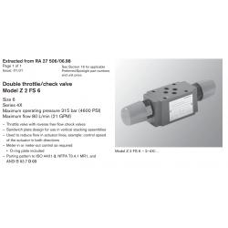 Double throttle/check valve Model Z 2 FS 6 Size 6 Series 4X