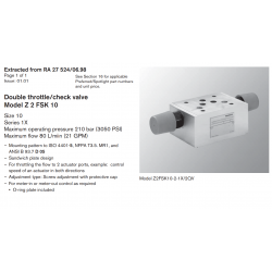 Double throttle/check valve Model Z 2 FSK 10 Size 10 Series 1X
