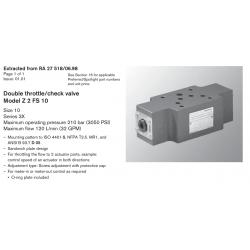 Double throttle/check valve Model Z 2 FS 10 Size 10 Series 3X