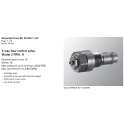2-way fl ow control valve, Model 2 FRM . K Nominal sizes 6 and 10 Series 1X