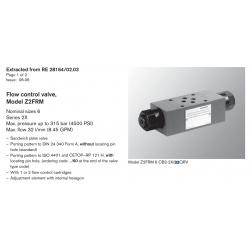 Flow control valve, Model Z2FRM Nominal sizes 6 Series 2X