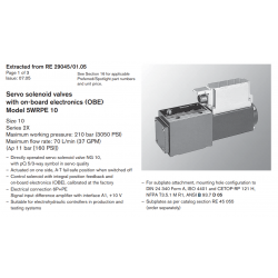 Servo solenoid valves with on-board elec tron ics (OBE) Model 5WRPE 10 Size 10 Series 2X