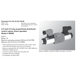 4/2 and 4/3-way proportional directional control valves, direct operated Model 4 WRAB
