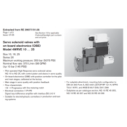 Servo solenoid valves with on-board electronics (OBE) Model 4WRVE 10 … 25