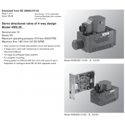 Servo directional valve of 4-way design Model 4WS.2E…