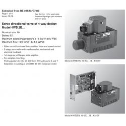 Servo directional valve of 4-way design Model 4WS.2E…