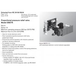 Proportional pressure relief valve Model DBETR