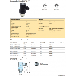 "Pressure Switches G1/8"", G1/4"""