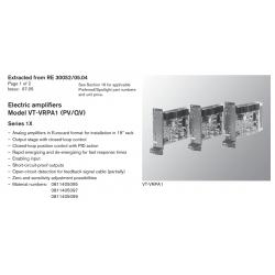 Electric amplifi ers Model VT-VRPA1 (PV/QV) Series 1X