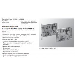 Electrical amplifi ers Models VT-VSPA1-2 and VT-VSPA1K-2