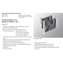 Analog amplifi er card Model VT-VSPA2-1-2X/… Series 2X