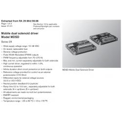 Mobile dual solenoid driver Model MDSD Series 2X