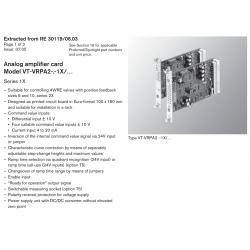 Analog amplifi er card Model VT-VRPA2-.-1X/… Series 1X