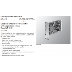 Electrical amplifier for flow control with proportional valves Model VT 5035 Series 1X
