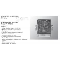 Analog position controller Model VT-MACAS Series 1X