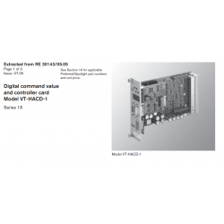 Digital command value and controller card Model VT-HACD-1 Series 1X