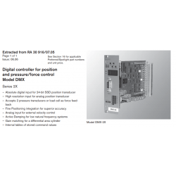 Digital controller for position and pressure/force control Model DMX