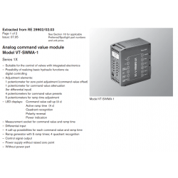 Analog command value module Model VT-SWMA-1 Series 1X